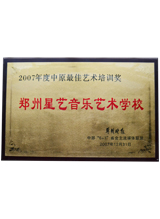 2007年度中原最佳艺术培训奖